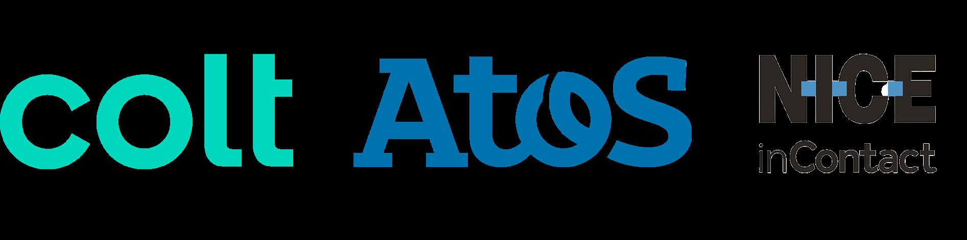 Colt-atos-nice-incontact logos